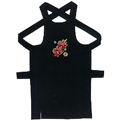 刺繍入り 黒腹掛け「獅子」  刺繍入 黒腹掛け 「獅子」 商品番号 kz-16155 ■サイズ: